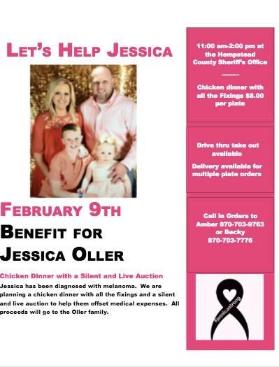Let's Help Jessica - benefit flyer - all information listed below