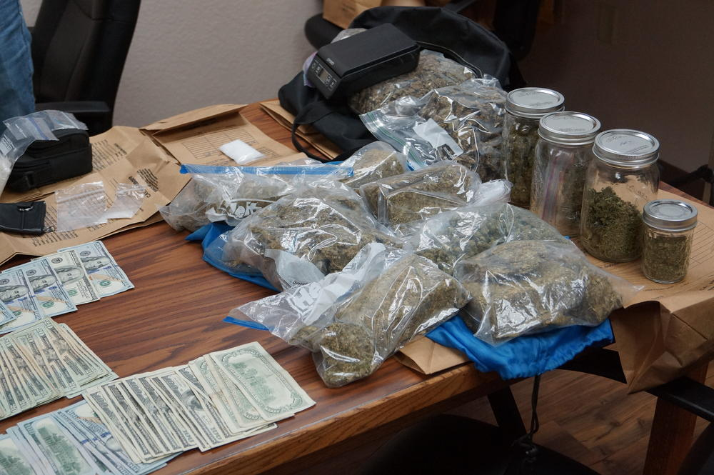Confiscated Marijuana and Cash