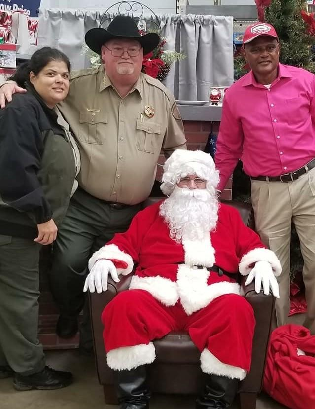 Sheriff Singleton with Santa