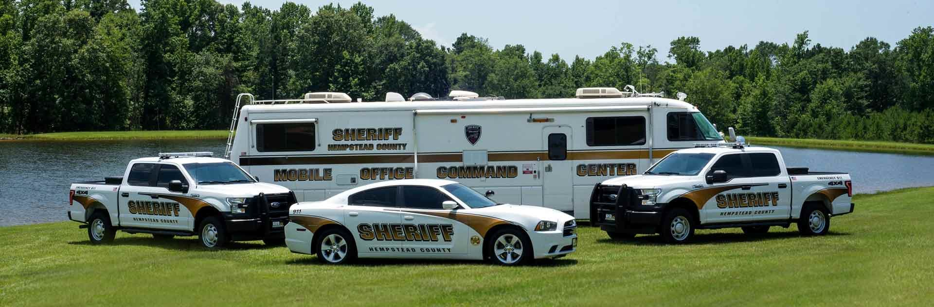 Sheriff Vehicles and Mobile Command Center