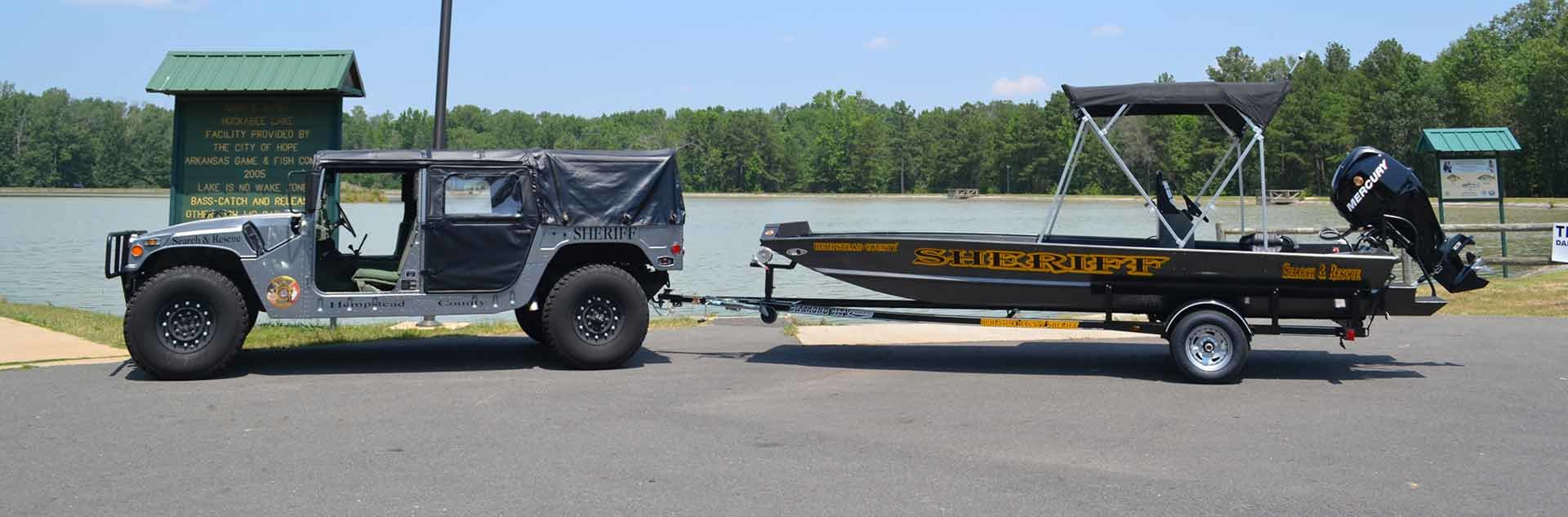 Sheriff Jeep and Boat