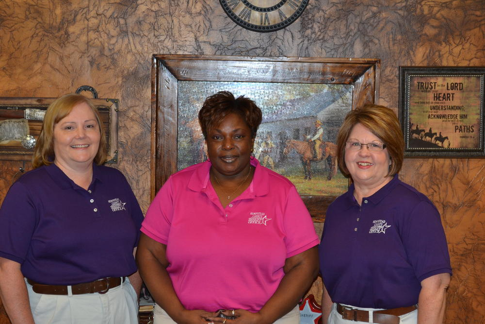 Bookkeeper Dana Chism, Civil Clerk Joycelyn Trotter, Warrants Clerk Darene Morales